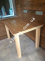 Стол деревянный для дачи, сада, беседки 700 х 1400 мм