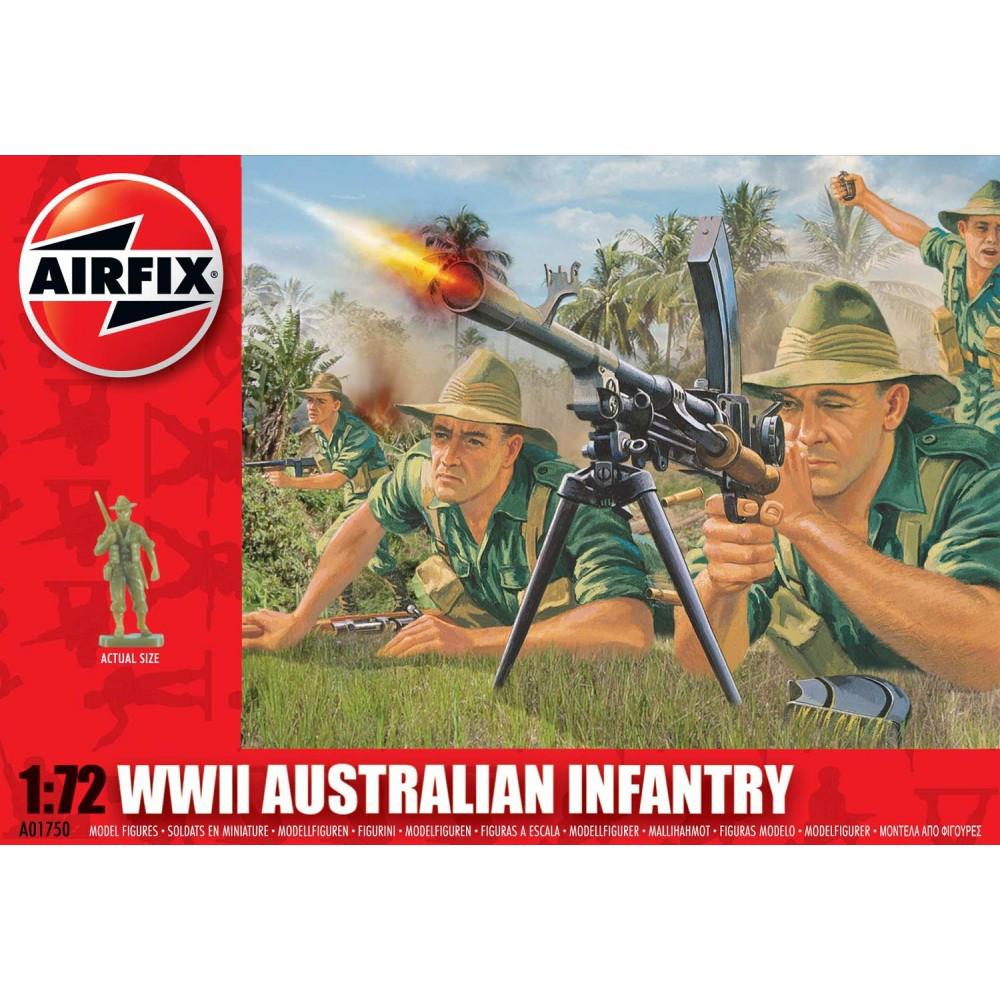 WWII AUSTRALIAN INFANTRY. 1/72 AIRFIX 01750