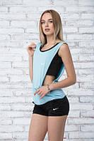 Костюм спортивный тройка ~TRIO-SUM~ черный+голубой, фото 1