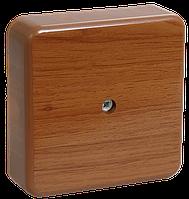 Коробка КМ41216-05 распаячная для о/п 75х75х28 мм дуб 6 клемм 6мм2 IEK