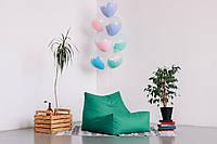 Зеленое бескаркасное кресло-лежак из ткани Оксфорд, фото 1