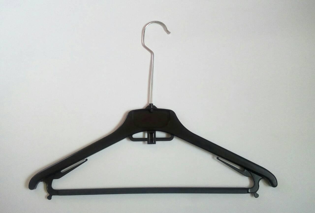 Вешалки, плечики тремпеля 40см с перекладиной. Длинный металлический крючок
