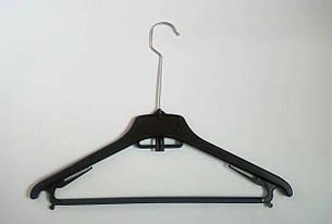 Вешалки, плечики тремпеля 40см с перекладиной. Длинный металлический крючок, фото 2