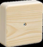 Коробка КМ41219-04 распаячная для о/п 100х100х29 мм сосна 6 клемм 6мм2 IEK