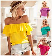 Летняя блуза с воланом 16564, фото 1
