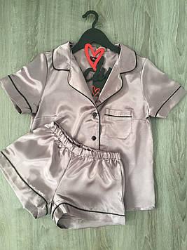 Модный комплект пижамы рубашка с шортами ТМ Exclusive