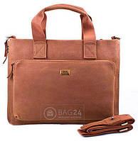 Кожаная мужская сумка с ручками ETERNO ET6225-1, Коричневый