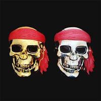 Маска череп пирата золото ( пластик ) на Хэллоуин, фото 1