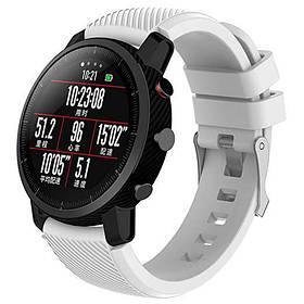 Силіконовий ремінець Primo для годин Xiaomi Huami Amazfit SportWatch 2 / Amazfit Stratos - White