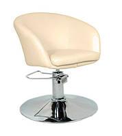 Парикмахерское кресло Мурат P, цвет бежевый (небольшие царапины металле)