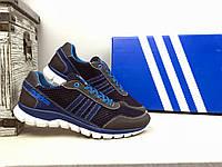 Мужские кроссовки сетка Adidas  Синий/Голубой 10857