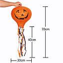 Декор подвесной Хэллоуин 30х70см оранжевый с тыквой, фото 4