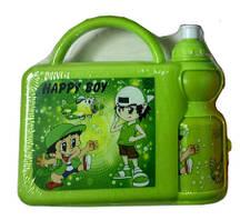 Набір для ланчу дитячий (бокс+поїлка) J00148 Green