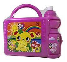Набір для ланчу дитячий (бокс+поїлка) J00148 Pink