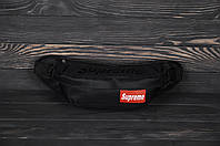 Поясная сумка бананка Supreme all black (уценка) реплика
