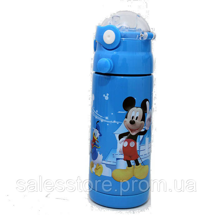 Термос детский Disney 603 с трубочкой объем 350 мл цвет №13 Микки Маус Mickey Mouse