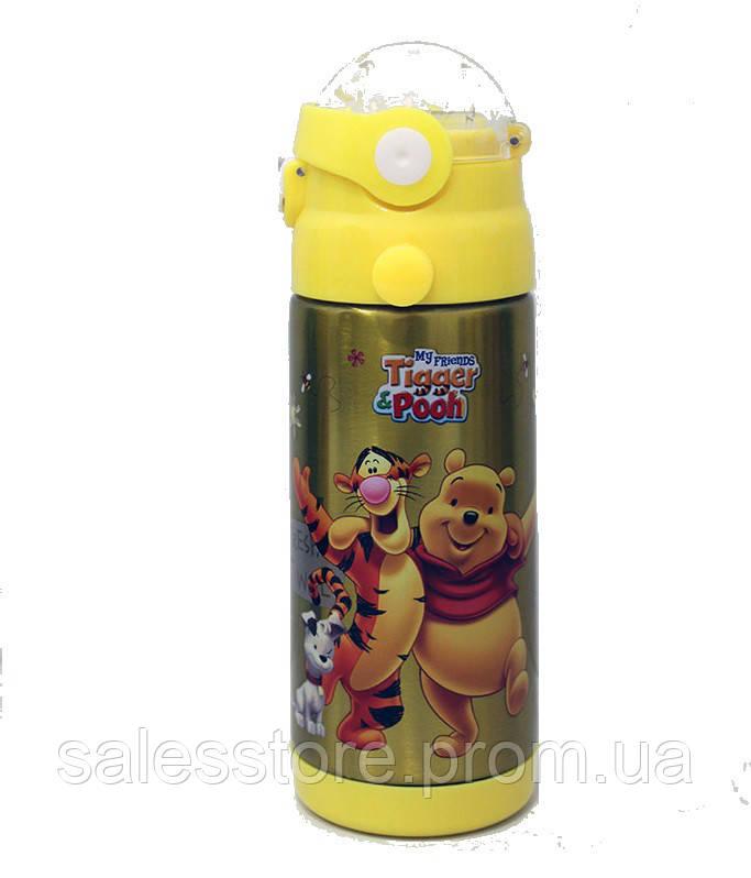 Термос детский Disney 603 с трубочкой объем 350 мл цвет №4 ВИННИ ПУХ WINNIE THE POOH