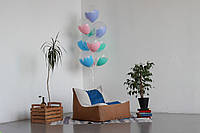 Коричневое бескаркасное кресло-лежак из Велюра Кордрой, фото 1