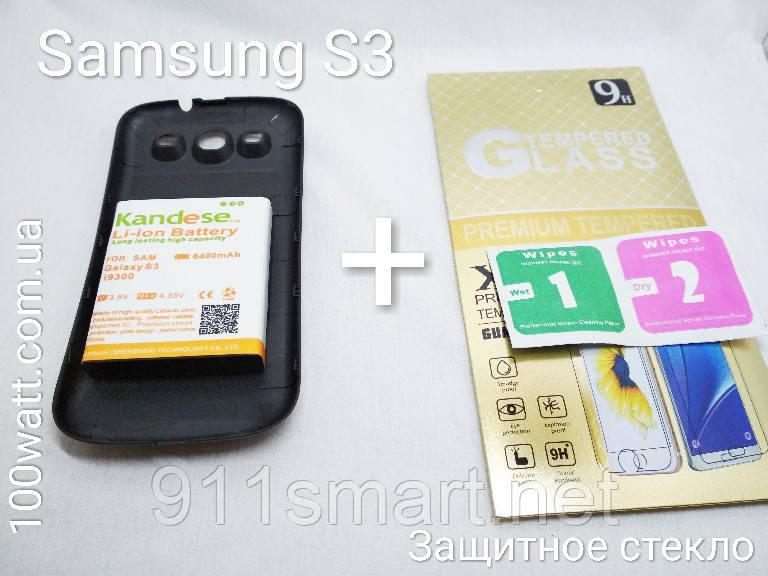 Усиленный оригинальный аккумулятор Samsung Galaxy S3 / i9300 Kandese 6400mah
