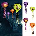 Декор подвесной Хэллоуин 30х70см фиолетовый с тыквами, фото 3
