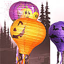 Декор подвесной Хэллоуин 30х70см фиолетовый с тыквами, фото 5