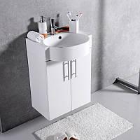 Шкафчик навесной с раковиной Ibiza 50 (ШН-512) цвета исполнения-Венге;Белый.