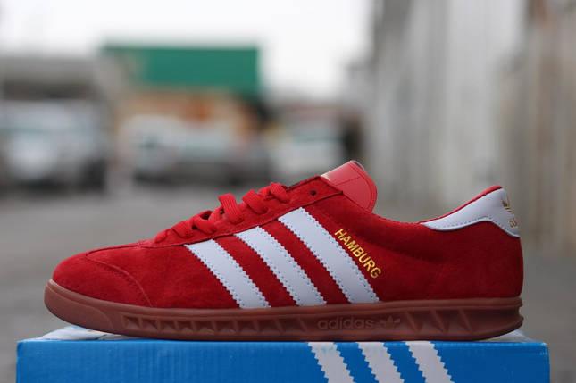 Кроссовки мужские Adidas Hamburg.Бордовые, фото 2