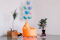 Оранжевое бескаркасное кресло мешок Капелька из ткани Оксфорд, фото 1