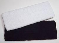 Повязка на голову, махровая ткань, черный и белый(6 шт) 6_7_13