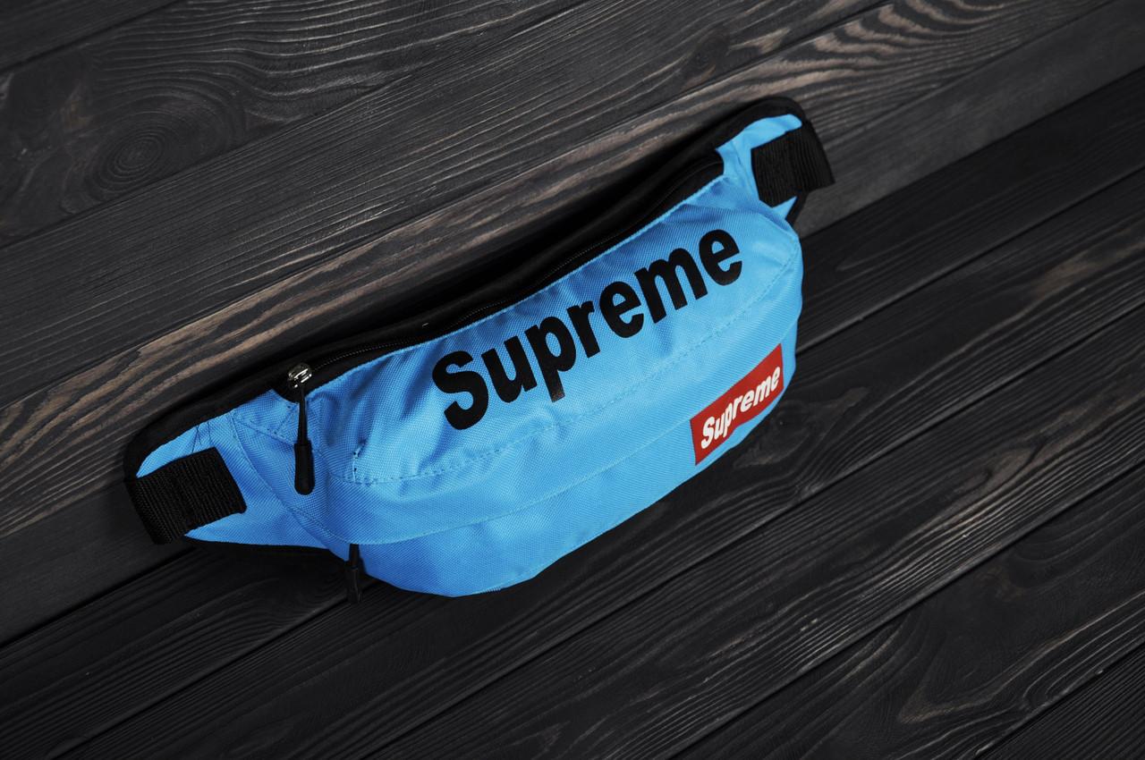 bd963cc21fd2 Поясная сумка бананка Supreme голубая - Ataman Shop — Интернет-магазин  молодежной одежды в Полтаве