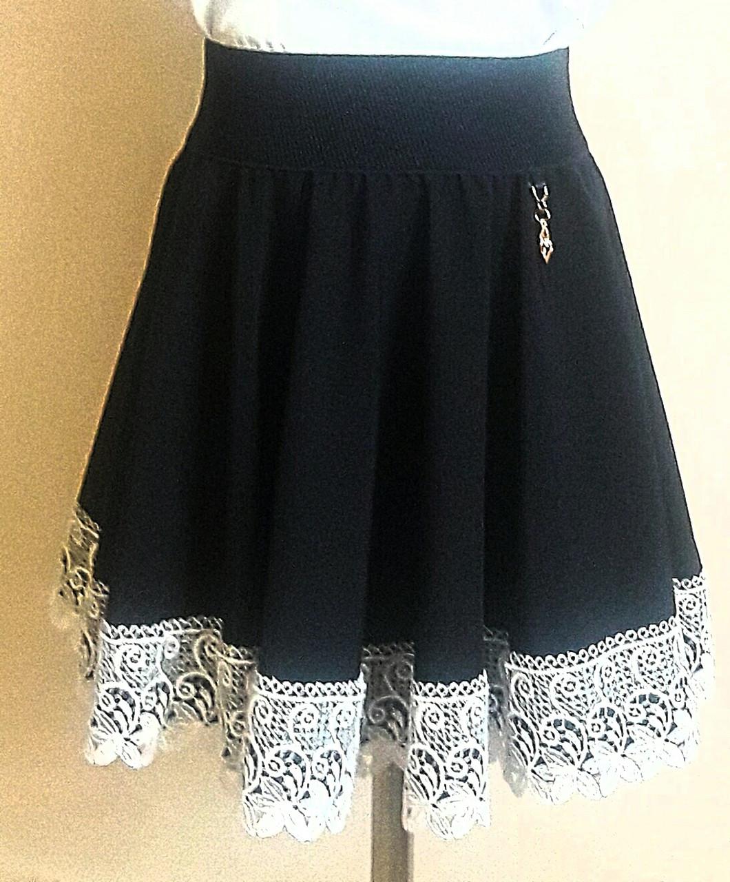 """Красивая школьная юбка для девочки """"Анжелика""""(солнце-клешь)"""