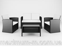 Садовая мебель Ротанг CASELLA black