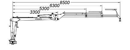 Манипулятор для леса We-S8500 (Weimer), фото 2