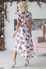 Новинка! шикарное женское белое в цветах летнее платье размеры:42-48, фото 3