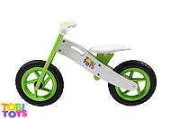 Беговел детский, велобег из дерева. Tobi Toys.