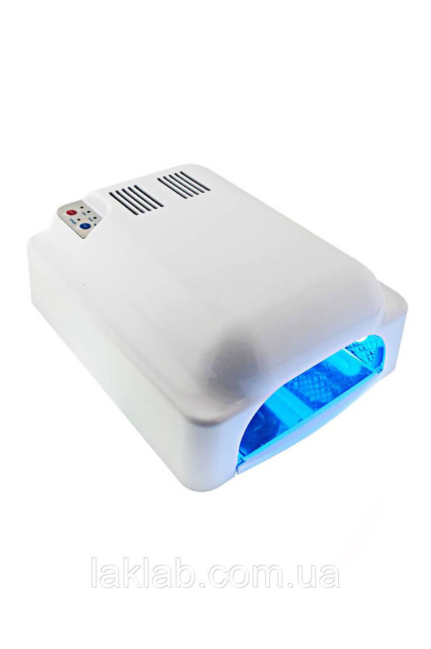 УФ лампа для ногтей 36W LV 828, сен. таймер 60,120,180 сек.и режим бескон.+ вентилятор, цвет белый