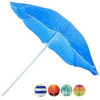 Зонт торгово пляжный диам 1,8м Серебрение наклон 0081Р/2бк