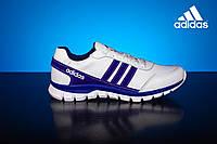 Мужские кожаные кроссовки Adidas Белые 23_bel