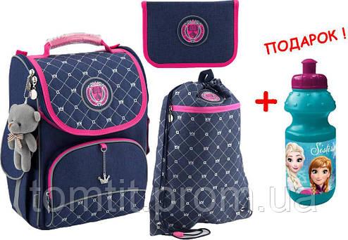 60466a71c837 Комплект. Рюкзак школьный каркасный College line K18-501S-10 + пенал + сумка
