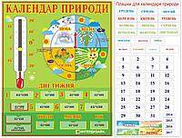 Календарь природы с градусником и карточками