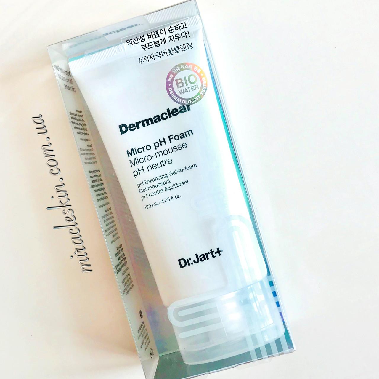 Dr.Jart Dermaclear Micro pH Foam Micro-mousse pH neutre, 120ml  Очищающая пенка с нейтральным рН