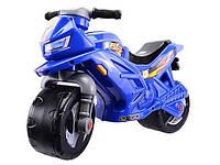 Детский двухколесный мотоцикл толокар Орион Синий, фото 1