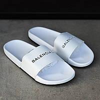 Стильные мужские тапочки  Balenciaga белые (реплика)
