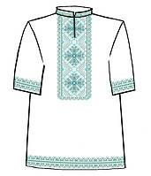 Сорочка чоловіча з коротким рукавом під вишивку хрестиком, білий колір