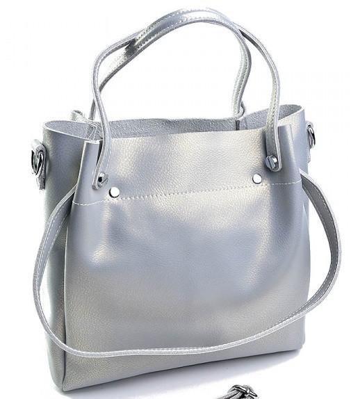 Женская кожаная сумка 1022 Pearl Silver Кожаные женские сумки купить Одесса  7 км - Интернет магазин 75530b56d0a