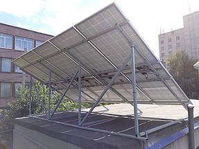 Сетевая солнечная станция на крыше гаража 1