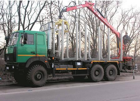 Автомобиль-сортиментовоз на базе шасси автомобиля МАЗ, фото 2