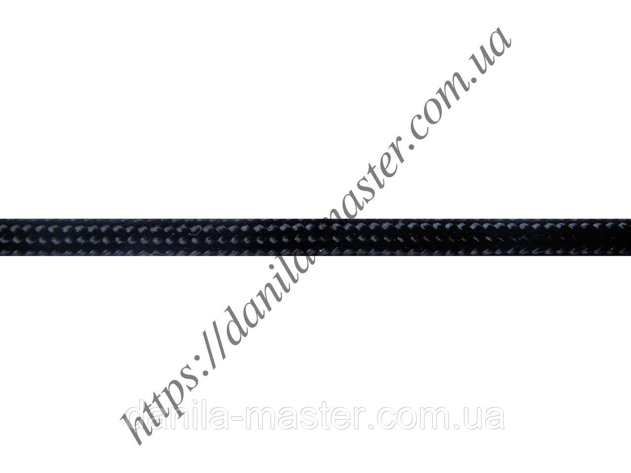 Шнур нейлоново-шелковый черный плетеный Milan 216 (d=2,5мм)
