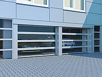 Промислові секційні ворота з панорамним склінням DoorHan ISD02, фото 1