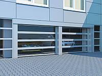 Промышленные секционные ворота с панорамным остеклением DoorHan ISD02, фото 1